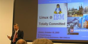 One presentation during the Linux@IBM event